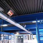 Mehrere Hellstrahler der Firma Schwank, die an die Brennwerttechnik hybridSchwank aero angeschlossen sind.