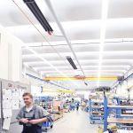 Die Dunkelstrahler von Schwank werden durch das Brennwertsystem hybridSchwank hydro verbunden.