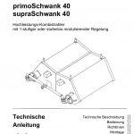 Titelbild der technische Anleitung primoSchwank 40 und supraSchwank 40.